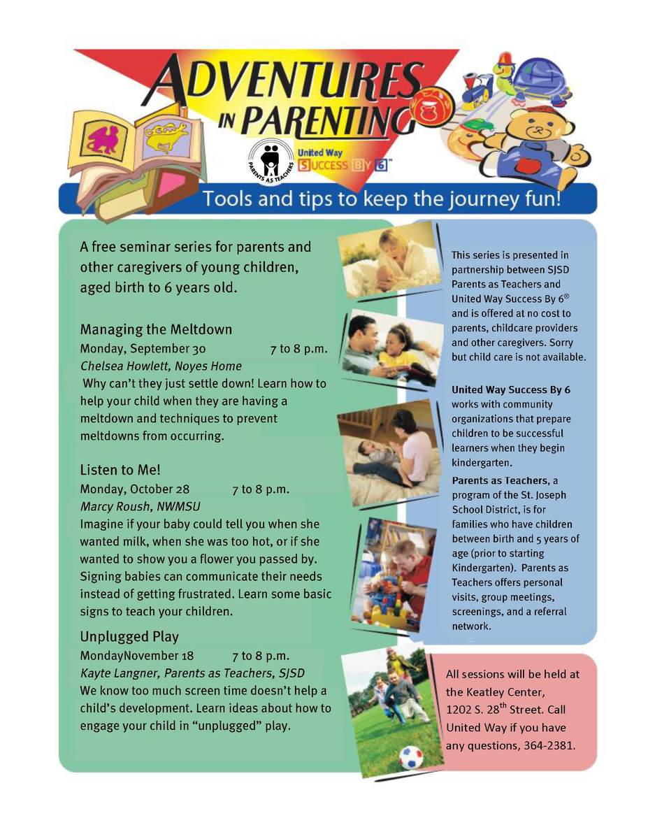FREE parent training opportunities | United Way of Greater St  Joseph
