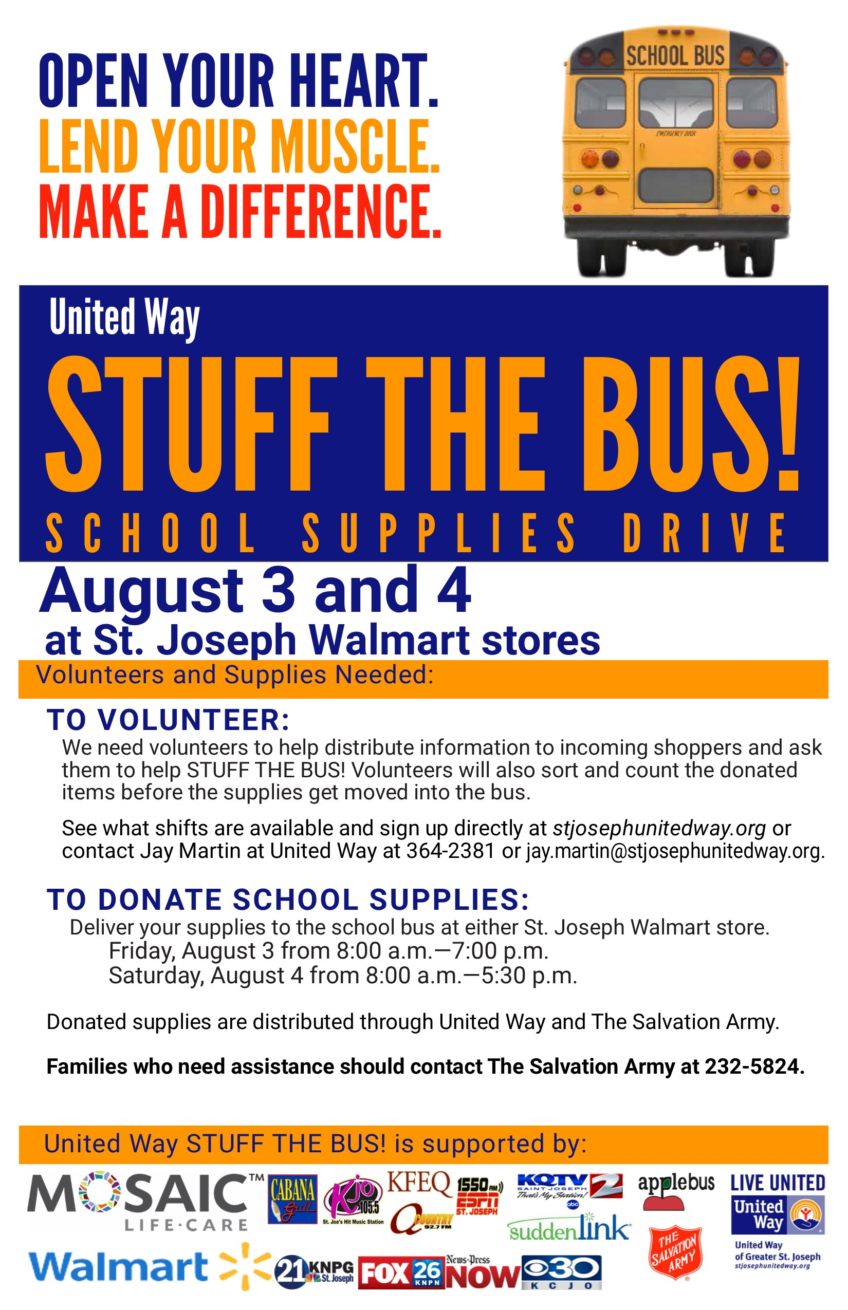 STUFF THE BUS!   United Way of Greater St  Joseph